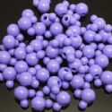 Beads, Acrylic, Light purple, Designer shapes, 12mm x 8mm x 8mm, 11g, 25 Beads, (SLZ0054)